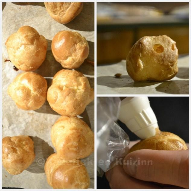 Préparation de la pâte à choux et crème de marron pour Culino Versions