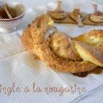 Kringle avec une pâte briochée et de la nougatine aux amandes et aux noisettes