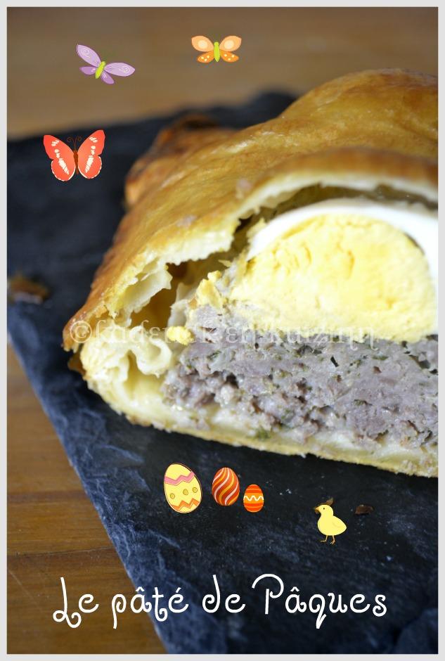"""Pâté de Pâques pour pour le thème du mois de mars de Culino Versions """"cuisiner les oeufs"""""""