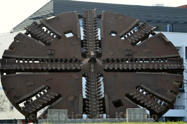 Photo de la tête de coupe du tunnelier pour le projet 52 du blog vivre la photo