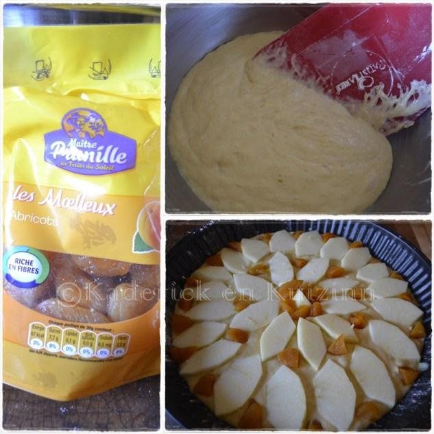 Préparation tarte briochée aux pommes et abricots secs recette élaborée par une diététicienne nutritionniste