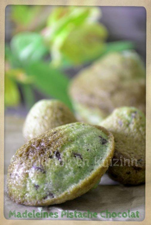 Recette des madeleines à la pistache et chocolat, un gâteau d'enfance pour le goûter