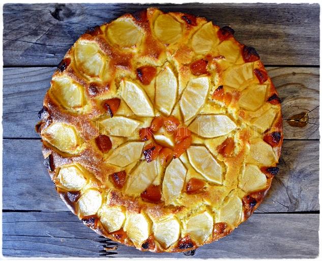 Recette de la tarte briochée aux pommes et abricots secs faites grâce au livre des éditions solar
