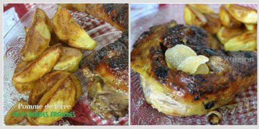 Recette des pommes de terre aux herbes et poulet gingembre mariné au pamplemousse sur le blog de ©Kaderick en Kuizinn