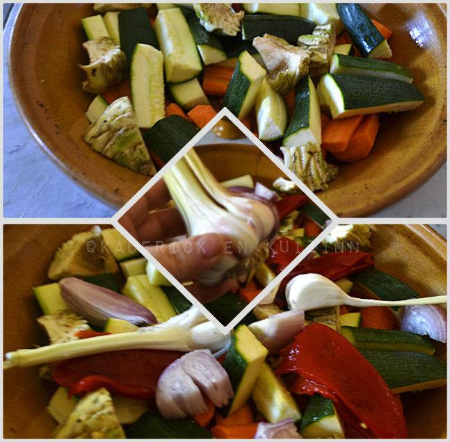 Préparation du tajine boulette aux légumes bio et des épices pour une cuisine orientale