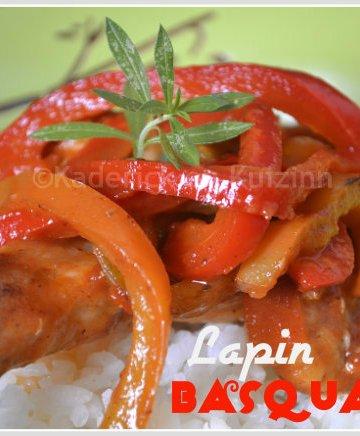 Recette du lapin basquaise pour Culino Versions avec des poivrons bio