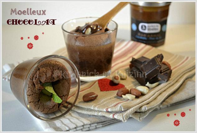 Recette recette moelleux au chocolat avec un coeur de caramel aux cacahuètes