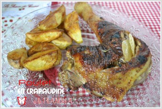 Recette du poulet gingembre en crapaudine à la plancha mariné avec du gingembre confit