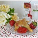 Recette samoussas aux fraises et rhubarbe pour un dessert de saison
