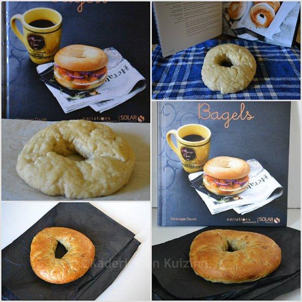 Cuisson recette bagels à l'italienne sorti du livre Bagels des Editions Solar
