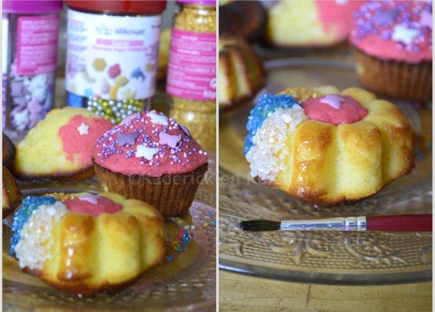 Partenariat Silikomart - Décoration des madeleines pop's à la vanille avec du sucre cristallisés