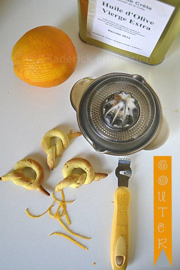 Goûter des biscuits à l'huile d'olive, orange bio & sésame en dessert avec un thé ou une limonade bien fraîche