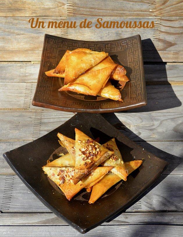 Menu de Samoussas en recette salée et en sucrée pour une cuisine orientale