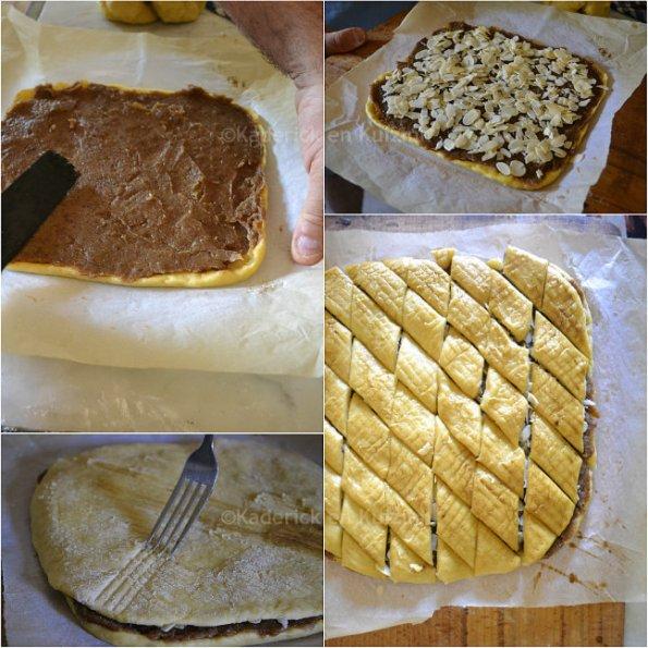 Préparation gateau de dattes et amandes El Meraoui pour une cuisine maghrébine