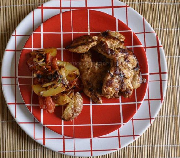 Recette d'araignee de porc marinade épicée tandoori de Terre Exotique cuite à la plancha