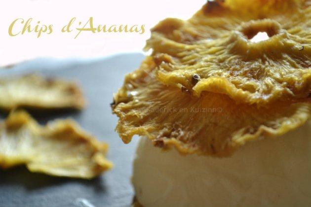 Recette chips d'ananas cuitent au four dessert des éditions solar sur Kaderick en Kuizinn©