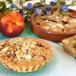 Recette dessert clafoutis praliné, nectarines, amandes en forme de minis tartelettes Kaderick en Kuizinn©