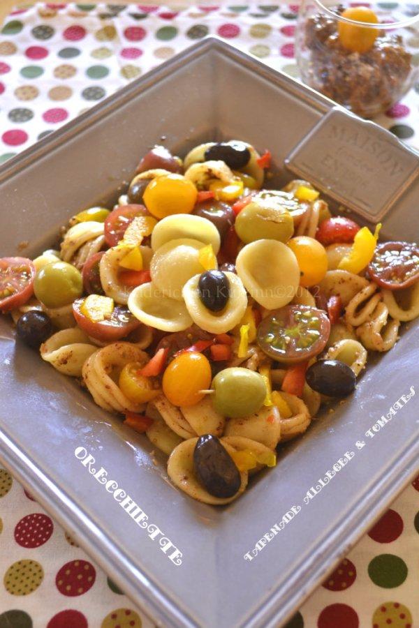 Recette facile orrechiette à la tapenade allégée & tomates cerises bio faites maison avec des anchois, câpres et tomate - Kaderick en Kuizinn©