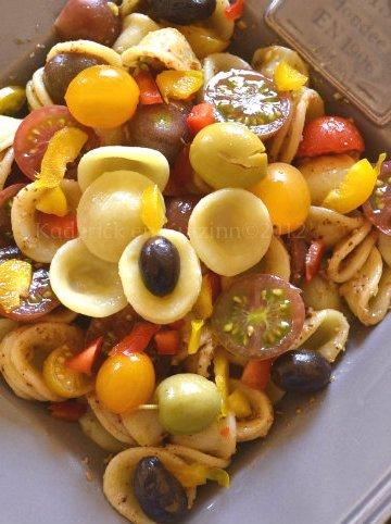 Recette orecchiette aux tomates & tapenade aux 2 olives allégée faites maison avec des anchois, câpres et tomate - Kaderick en Kuizinn©