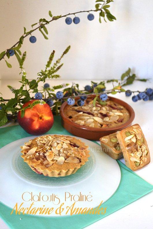 Clafoutis recipe chocolat praline, nectarines bio & amandes effilées sur Kaderick en Kuizinn©