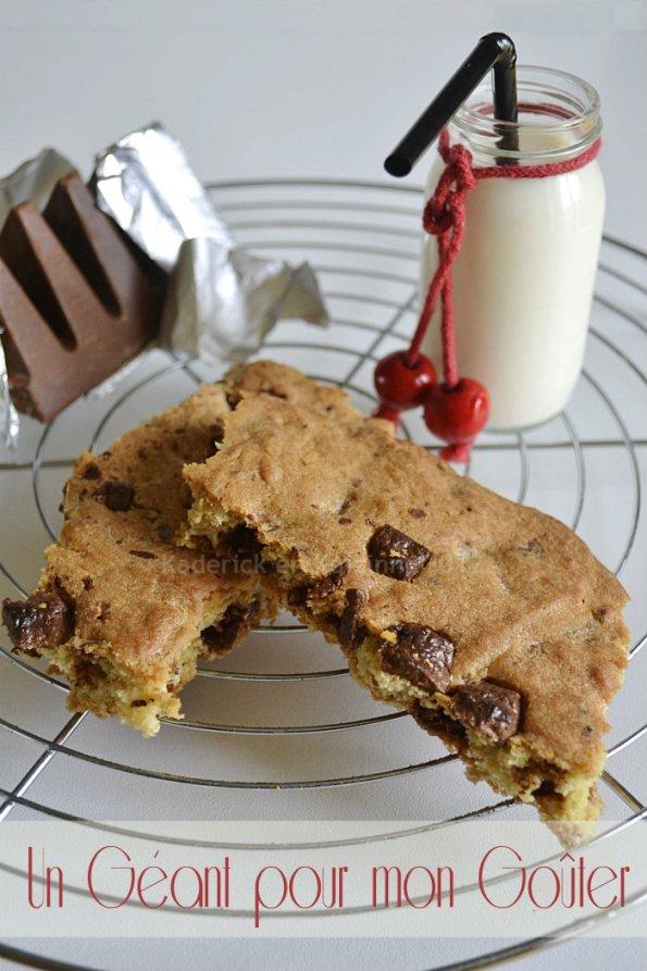 Défi goûter de la recette du cookie géant au toblerone® pour un dessert ou un goûter trop gourmand - Kaderick en Kuizinn©
