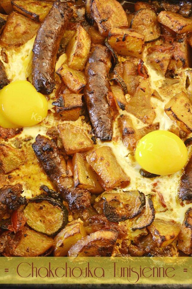 Dégustation chakchouka tunisienne merguez et oeuf une recette d'enfance - Kaderick en Kuizinn©