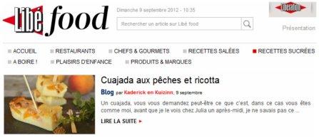 LibeFood 09.09.12 Cuajada aux pêches et ricotta pour un dessert espagnol ou basque - Kaderick en Kuizinn©