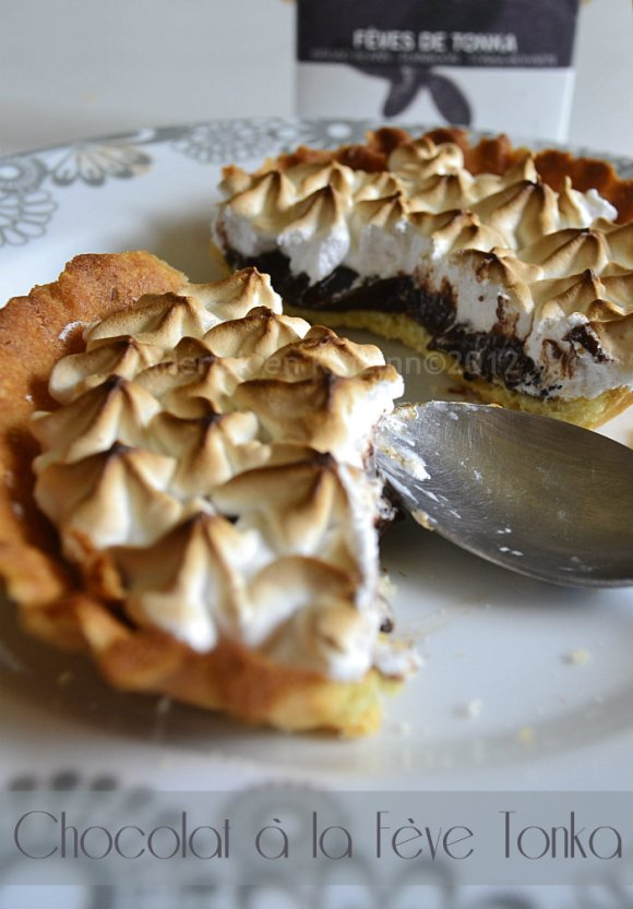 Dégustation part de tarte au chocolat à la fève tonka de mon partenaire Zaabär meringuée - Kaderick en Kuizinn©