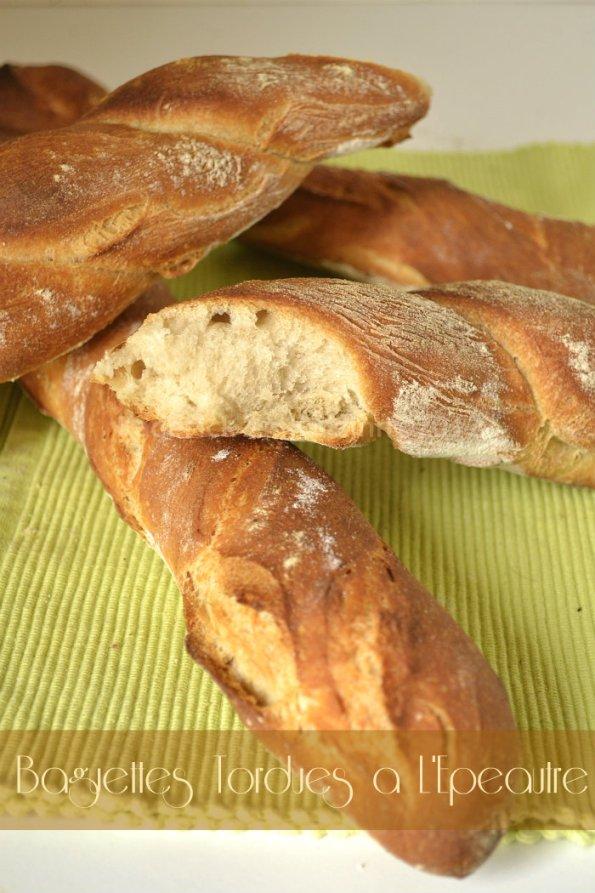Recette facile des baguettes tordues à la farine d'épeautre bio - Kaderick en Kuizinn©