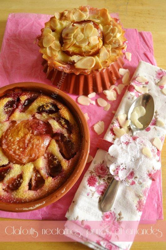 Recette facile du clafoutis nectarines, prunes et amandes bio pour un dessert estival - Kaderick en Kuizinn©