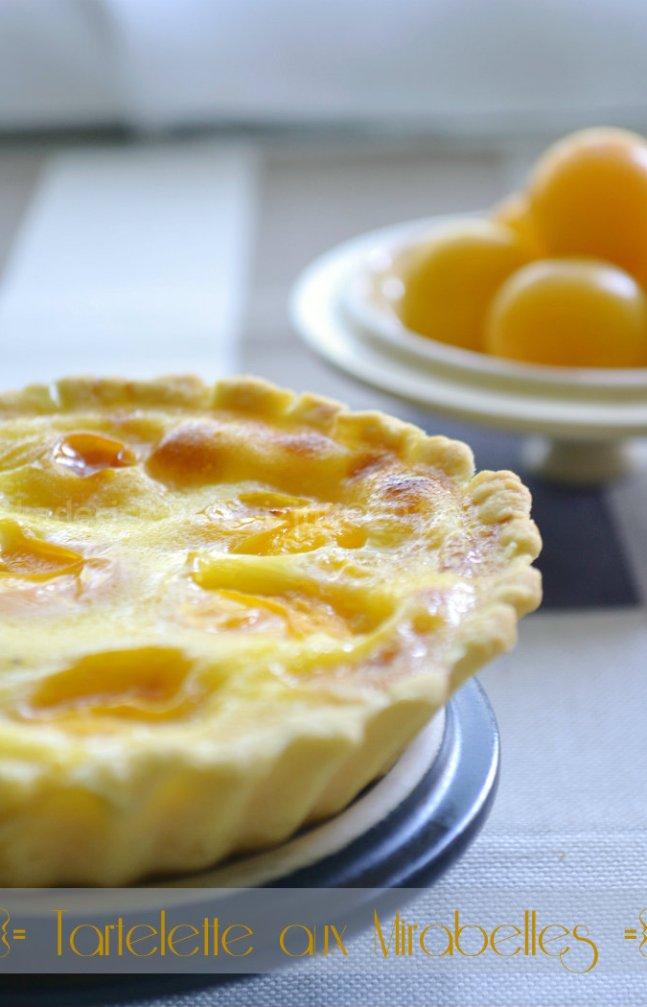 Recette facile de tartelette aux mirabelles bio et crème pâtissière - Kaderick en Kuizinn©