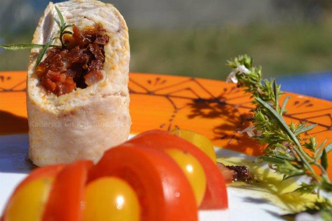 Recette roulés de dinde au chorizo, tomates confites et mozzarella avec une sauce vierge du livre Masterchef d'Elisabeth Solar - Kaderick en Kuizinn©