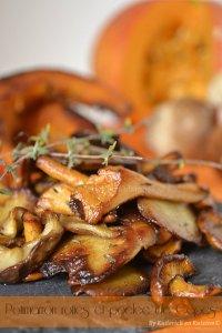 Dégustation de la recette des tranches de potimarron rôties, poêlée de cèpes et girolles pour Culino Versions - Kaderick en Kuizinn©