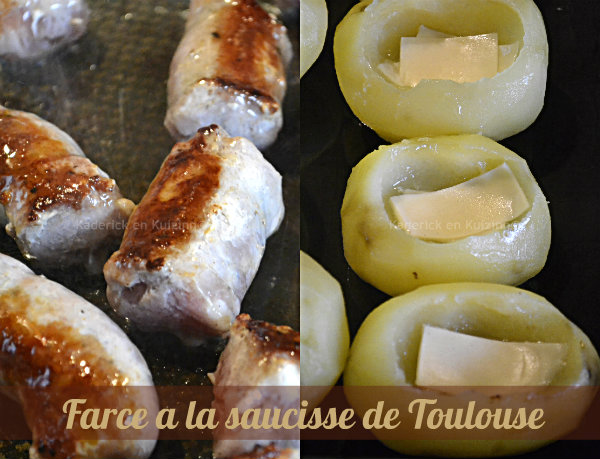 pommes de terre farcies chorizo ou saucisse kaderick en kuizinn. Black Bedroom Furniture Sets. Home Design Ideas