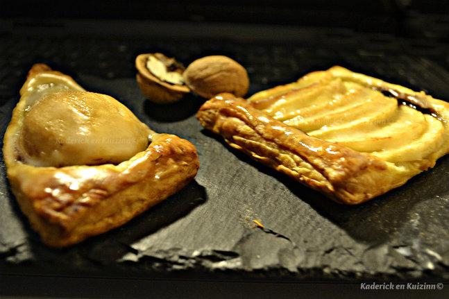 Recette tarte aux pommes ou poires bio au chocolat et noix fraîches - Kaderick en Kuizinn©