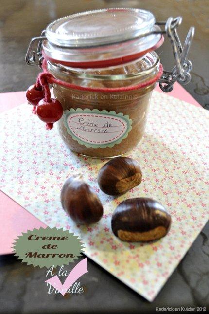 Recette de la crème de marron à la vanille fait maison pour une recette d'enfance - Kaderick en Kuizinn©