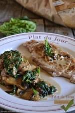 Cuisine plancha - Recette du filet de veau à la plancha, sauce champignons et épinards bio pour un repas de fêtes - Kaderick en Kuizinn©