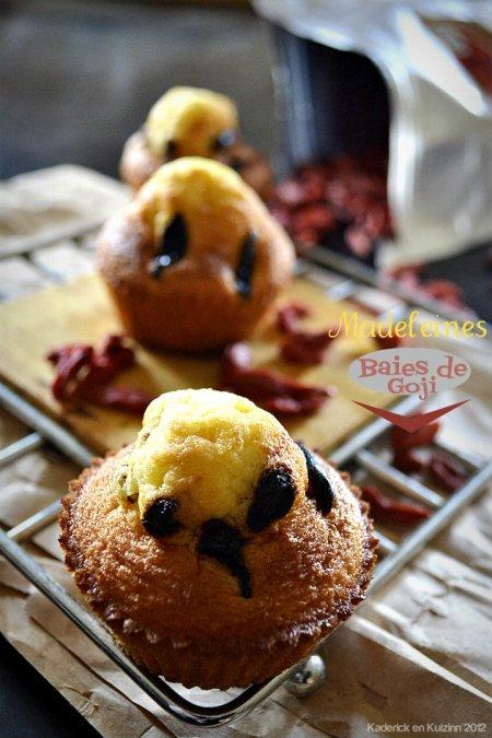 Dégustation de la recette des madeleines aux baies de goji de mon partenariat Ning Xia attention aux réactions allergiques - Kaderick en Kuizinn©