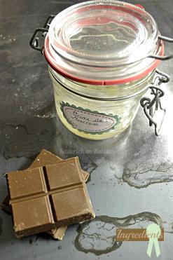 Ingrédients de la recette cookie geant à la crème de marron & chocolat caramel pour un goûter - Kaderick en Kuizinn©