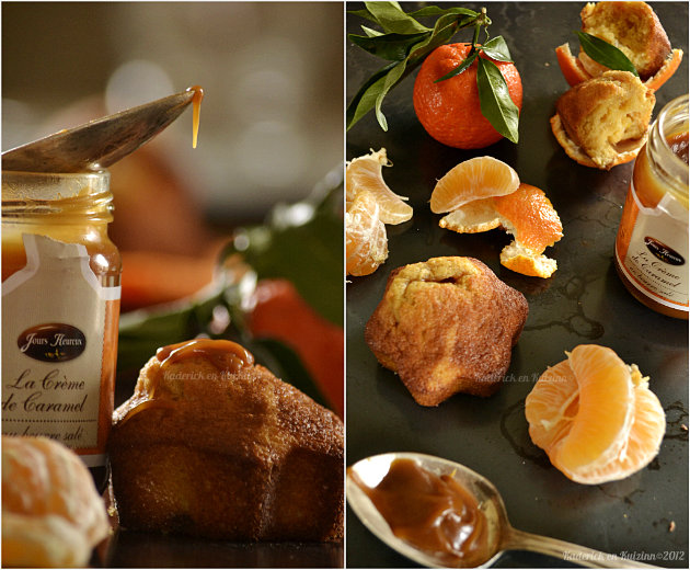 Recette des madeleines crème de caramel au beurre salé de la boutique gourmande les Jours Heureux® et clémentines bio - Kaderick en Kuizinn©