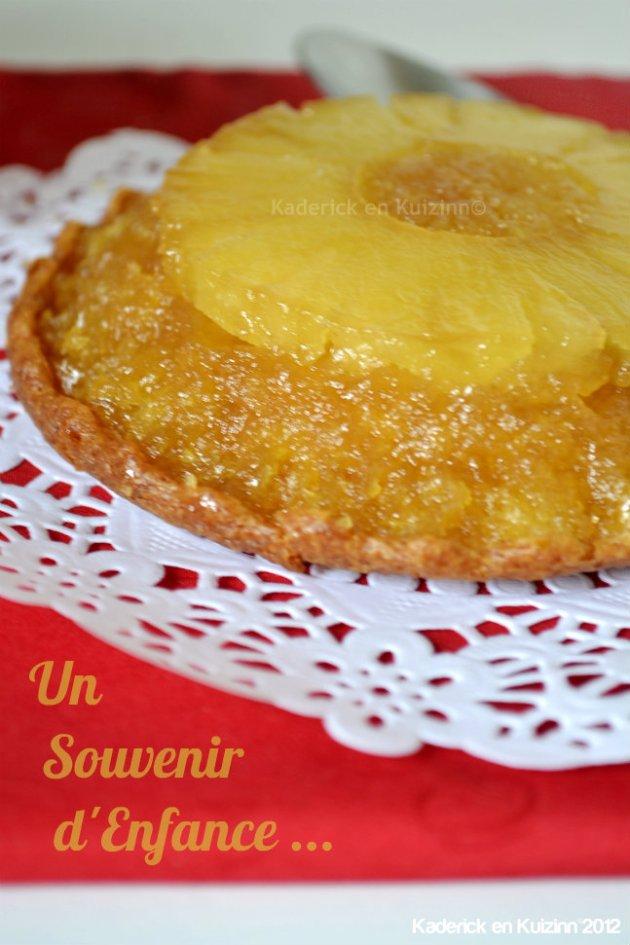 Recette du petit gâteau renversé à l'ananas au rhum coco caramélisé, un dessert de souvenir d'enfance - Kaderick en Kuizinn©