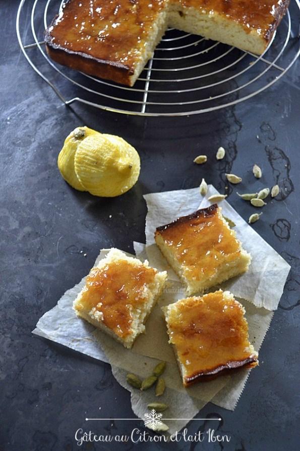 Gâteau citron et lait iben au caramel de citron fait avec de segments - Kaderick en Kuizinn©2012
