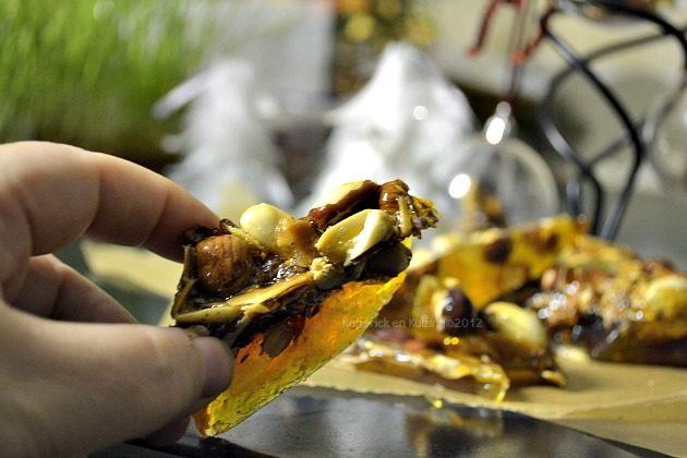 Croquande de Noël, friandises aux amandes, cacahuètes et noisettes cadeaux gourmands à offrir - Kaderick en Kuizinn©2012