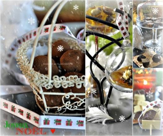 Joyeux Noël avec ses cadeaux gourmands fait maison, truffes, croquandes, chocolats noirs et blancs - Kaderick en Kuizinn©2012