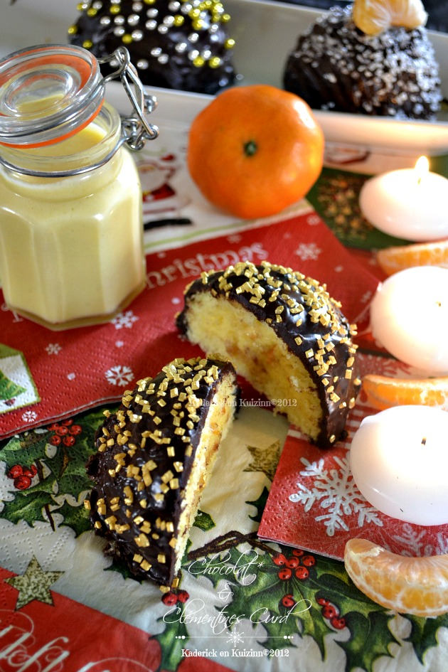 Presentation boules Noel chocolat clementines curd