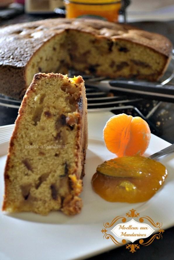 Recette du gâteau moelleux mandarines ou clémentines et pommes bio caramélisées - Kaderick en Kuizinn©2013