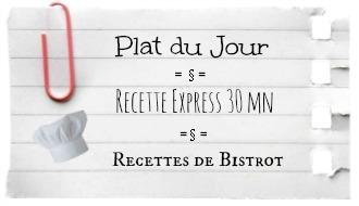 Logo catégories plat du jour, recette express et recette de bistrot sur le blog de Kaderick en Kuizinn©