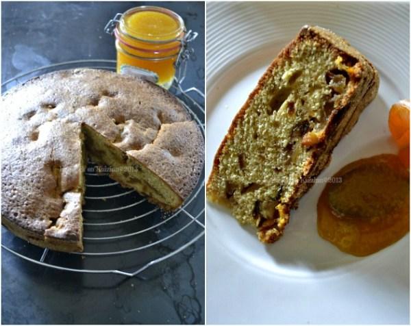 Recette du gâteau moelleux mandarines et pommes bio caramélisées - Kaderick en Kuizinn©2013