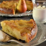 Recette du gâteau renversé moelleux aux poires bio caramélisées - Kaderick en Kuizinn©2013