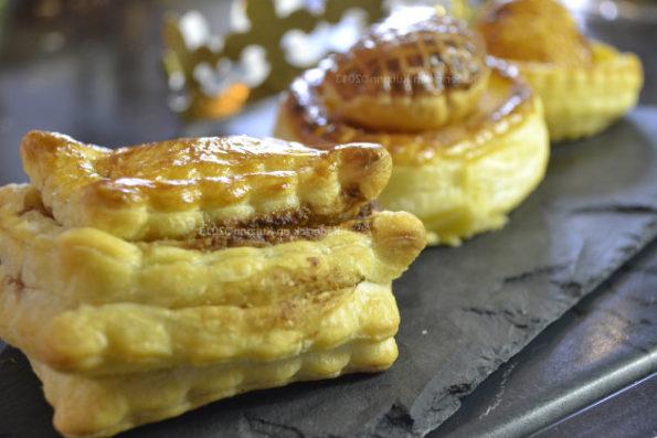 Recette mini galettes des rois à la crème d'amande, chocolat praliné ou clémentines pour le défi de recettes.de - Kaderick en Kuizinn©2013